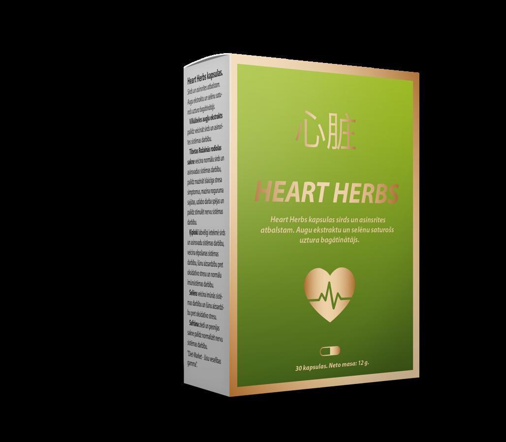 Heart Herbs 30 gab (Sirds un asinsrites atbalstam)