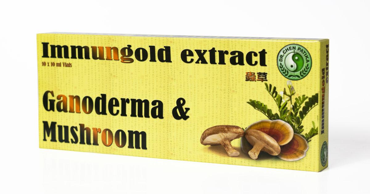 Immungold Ganoderma & Mushroom ekstrakts 100 ml (10ml x 10)
