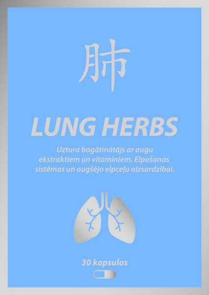 Lung Herbs 30 kapsulas Elpošanas sistēmas un augšējo elpceļu aizsardzībai